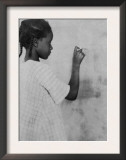 Young African American Girl at Chalkboard Photograph - Marlington, WV Prints