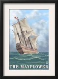 Plymouth, Massachusetts - View of the Mayflower Prints