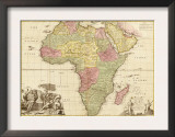Africa - Panoramic Map - Africa Posters