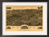 Anniston, Alabama - Panoramic Map Poster
