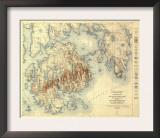 Acadia National Park - Topographic Panoramic Map Prints