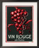 Vin Rouge De Table Wine Label - Europe Posters