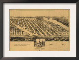 Asbury Park, New Jersey - Panoramic Map Prints