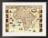 Africa - Panoramic Map - Africa Poster
