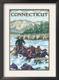 Connecticut - River Rafting Scene Prints