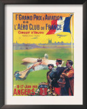 Angers, France - First Aviation Grand Prix - Pilot Taking Off Poster Print