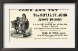 The Royal St. John Sewing Machine Art