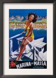 Apuania, Italy - Massa Marina Travel Poster Art
