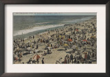Asbury Park, NJ - Bathing Scene from Boardwalk Prints