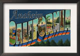 Anaheim, California - Large Letter Scenes Posters