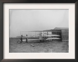 Wilbur & Orville Wright in 2nd powered machine Photograph - Dayton, OH Print