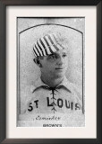 St. Louis, MO, St. Louis Browns, Chas. Comiskey, Baseball Card Print