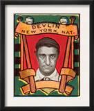 New York City, NY, New York Giants, Art Devlin, Baseball Card Print