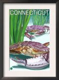 Connecticut - Crab and Fisherman Posters