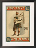 "A parlor Match ""Old Hoss"" Scottish Bagpiper Poster Posters"