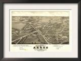 Akron, Ohio - Panoramic Map No. 1 - Akron, OH Print