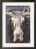 Connecticut - Moose Up Close Print