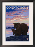 Connecticut - Bear and Cub Prints
