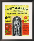 Noah Walker and Co. Fashionable Clothiers Print