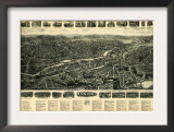 Ansonia, Connecticut - Panoramic Map - Ansonia, CT Prints