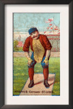 St. Louis, MO, St. Louis Browns, Jumbo McGinnis, Baseball Card Art