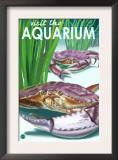 Visit the Aquarium, Dungeness Crab Scene Print