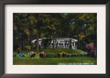 Peoria, Illinois, Glen Oak Park View of the Pergola Posters