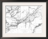 Canada, Detailed Map of Eastern Canada, New Brunswick, and Nova Scotia Posters