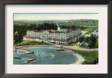 New London, Connecticut, Aerial View of the Eastern Point of the Griswold Hotel Posters