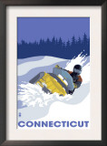 Connecticut, Snowmobile Scene Poster