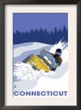 Connecticut, Snowmobile Scene Poster