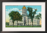 Hartford, Connecticut, Exterior View of the State Capitol Building Prints