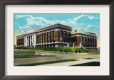 Peoria, Illinois, Exterior View of the New High School Building Posters