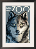 Visit the Zoo, Wolf Up Close Poster