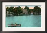 East Hampton, Connecticut, Lake Pocotopaug View of Kayrock Inn Art