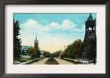 Peoria, Illinois, Scenic View down Hamilton Boulevard Prints