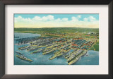 Newport News, Virginia, Aerial View of the Newport News Shipbuilding and Dry Dock Co. Poster
