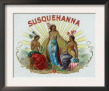 Susquehanna Brand Cigar Box Label Prints