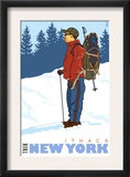 Snow Hiker, Ithaca, New York Posters