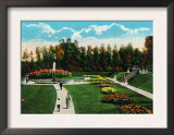 Peoria, Illinois, Glen Oak Park View of the Sunken Garden Prints