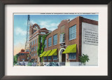 Davenport, IA, Exterior Views of Palmer School of Chiropractic and WOC Radio Station Bldg Print