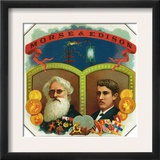 Morse and Edison Brand Cigar Box Label, Samuel F.B. Morse and Thomas Edison Prints