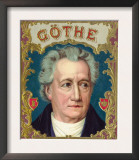 Goethe Brand Cigar Box Label Posters