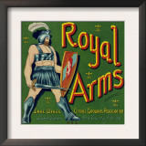 Lake Wales, Florida, Royal Arms Brand Citrus Label Prints