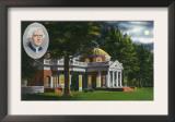Virginia, Exterior View of Thomas Jefferson's Home Monticello near Charlottesville Print