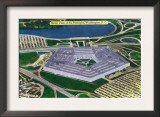 Washington DC, Aerial View of the Pentagon Building Prints