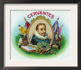 Miguel de Cervantes Brand Cigar Box Label Print