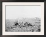 Gettsyburg, PA, Dead Mule and Artillery Caisson, Civil War Prints