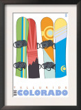 Telluride, Colorado, Snowboards in the Snow Prints