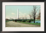 District of Columbia, Washington, Potomac Park Boulevard View of the WA Monument Print